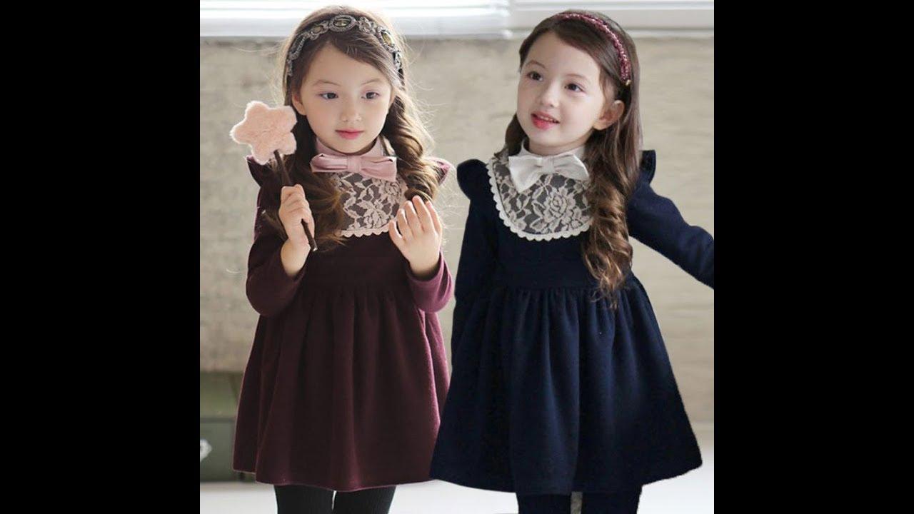 05eb7ca0d موضه اطفال شتاء 2018 ملابس بنات Fashion Kids for Winter - YouTube