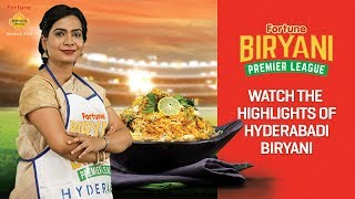 Hyderabadi biryani: fortune biryani premier league!