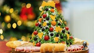 Sýrová pomazánka  ve tvaru vánočního stromečku - dokonalý slavnostní předkrm