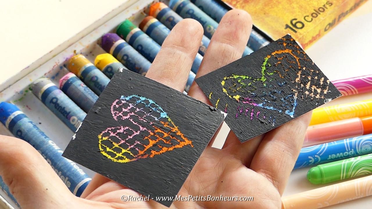 Carte à gratter à fabriquer avec des pastels gras ou des feutres - YouTube