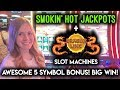 BIG WIN! INCREDIBLE 5 SYMBOL DRAGONLINK BONUS! Max Bet Smokin Hot Jackpots Slot Machine!