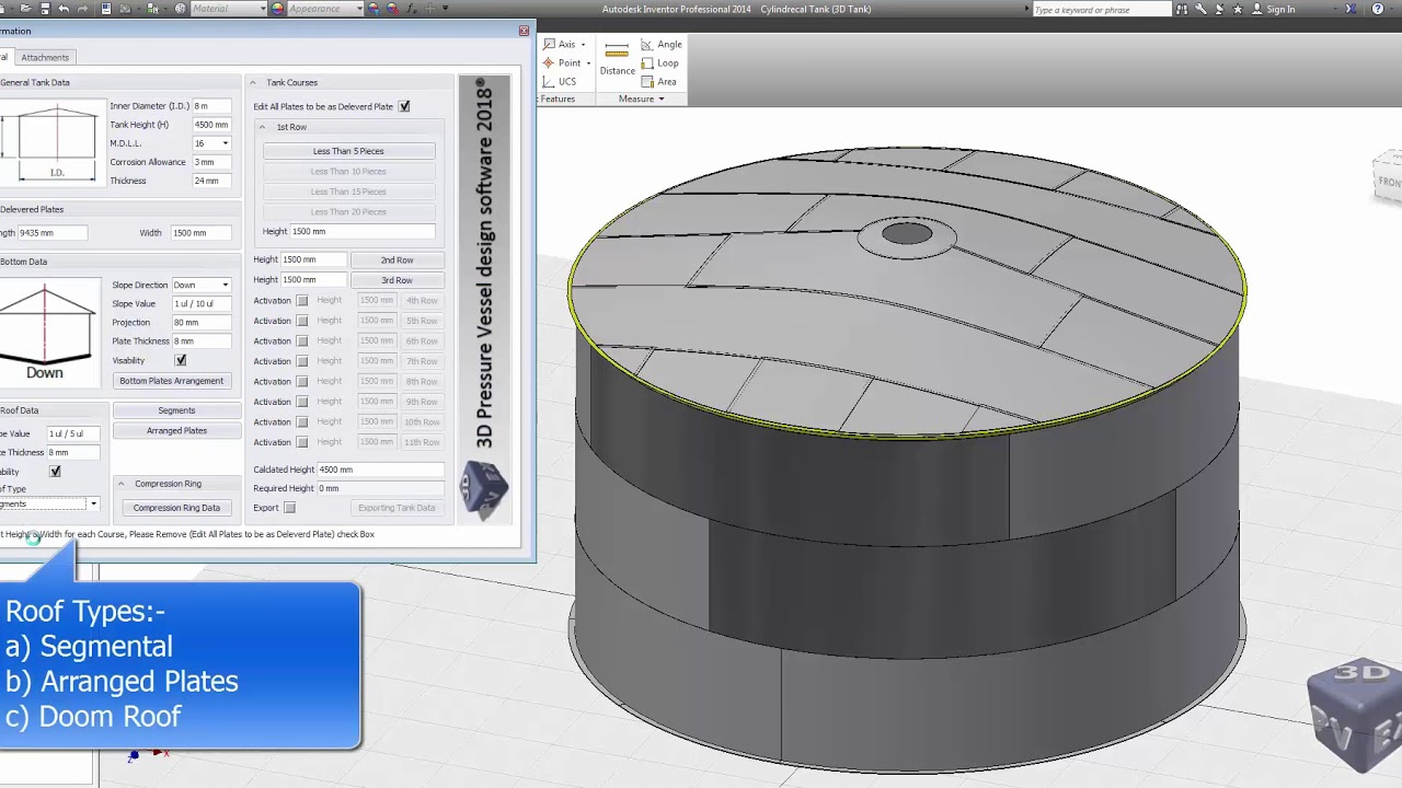 3D Modeling for Storage Tanks by 3D PV