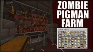 Minecraft ZOMBIE pigman XP farm 1.14.4  EASY to make