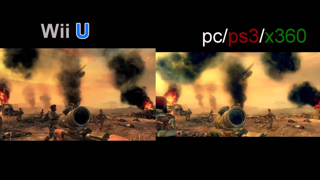 Call of Duty Black Ops 2 Wii U VS Ps3/Xbox 360 graphics ...  Call of Duty Bl...