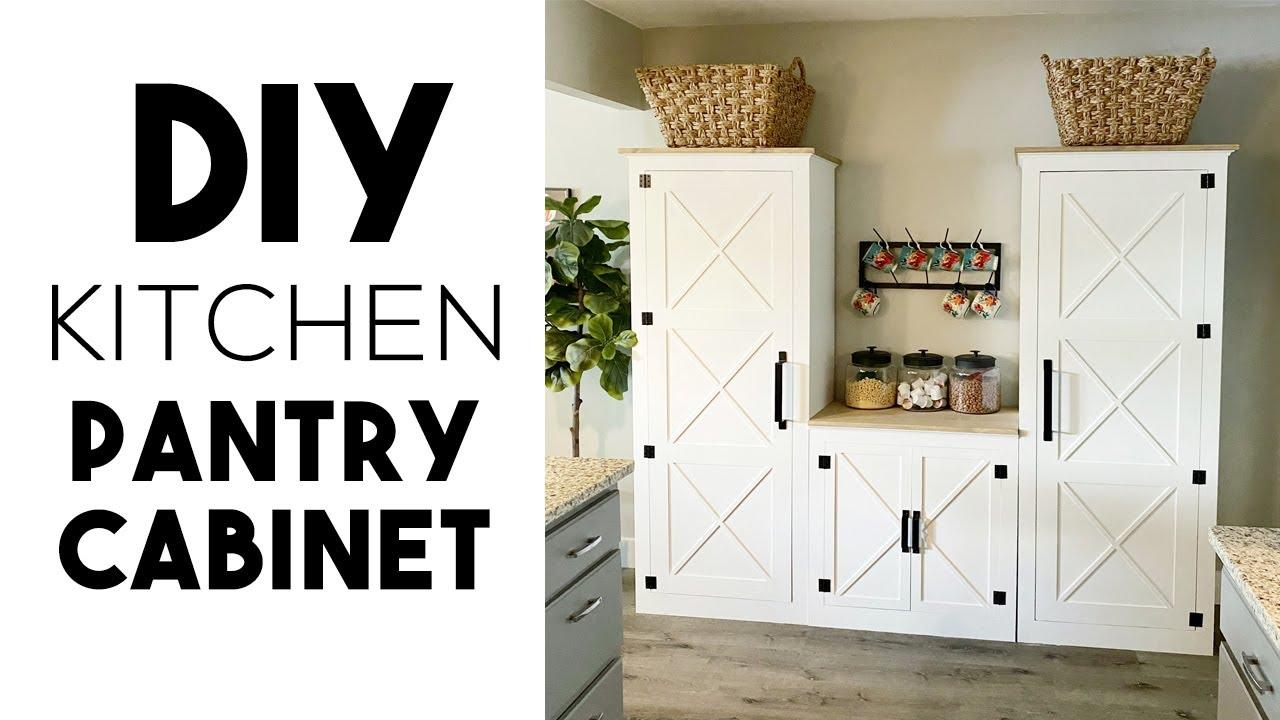 Diy Kitchen Pantry Cabinet Youtube