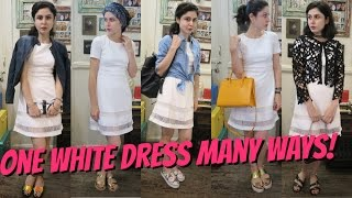 How To Style One White Dress In Many Ways!