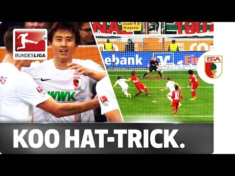 South korean koo scores augsburg's first bundesliga hat-trick