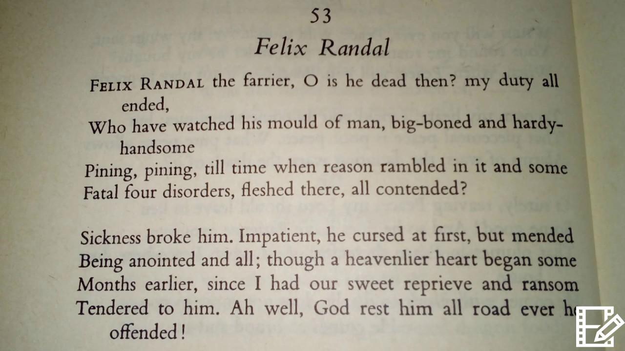 felix randal background of the poem