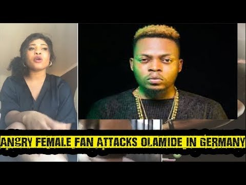 Angry Female Fan Attacks Olamide In Germany