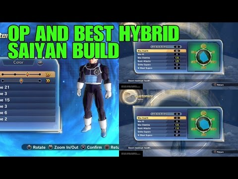 Dragon ball xenoverse 2 BEST AND MOST OP SAIYAN BUILDS!!!!!(Hybrid)