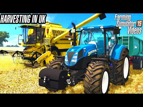 Harvesting wheat in United Kingdom