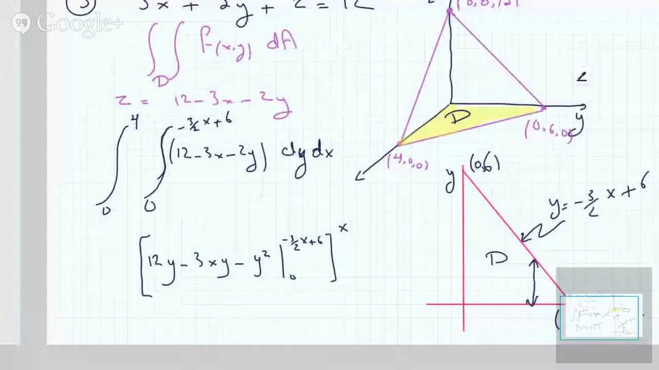 Finding the Volume of a Tetrahedron using Double Integrals