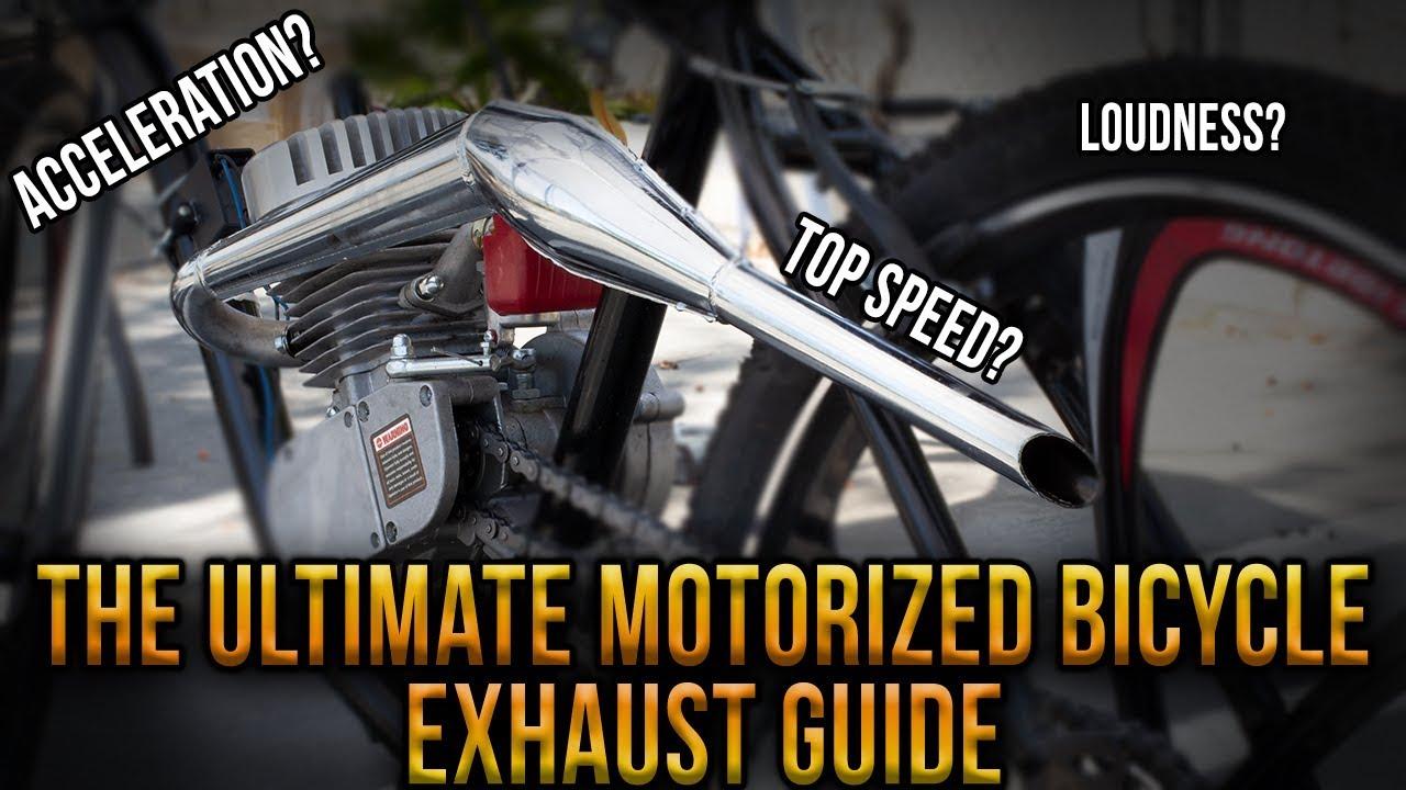 JRL Chrome Silencer Exhaust Muffler Fit 49cc 50cc 60cc 66cc 80cc Motorized Bike Motorised Bike