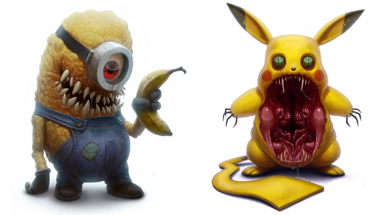 Cartoon Characters You Love Horror Version All Characters 2017