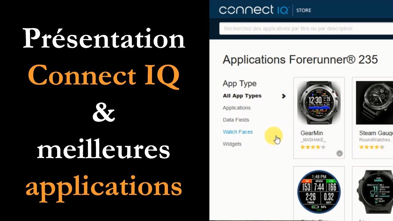 garmin connect iq presentation meilleures applications