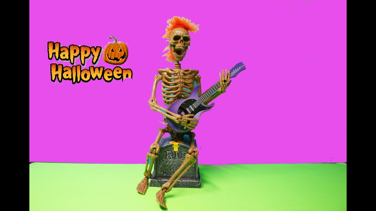 Skeleton Singing and playing Guitar Halloween Musical Toys for