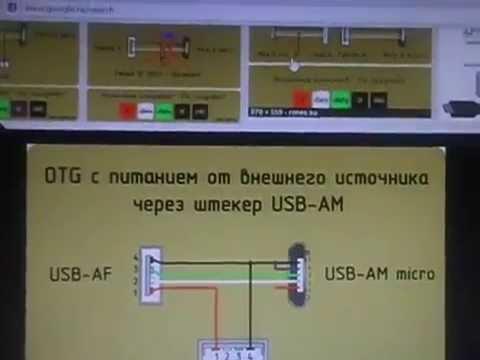 OTG кабель с дополнительным