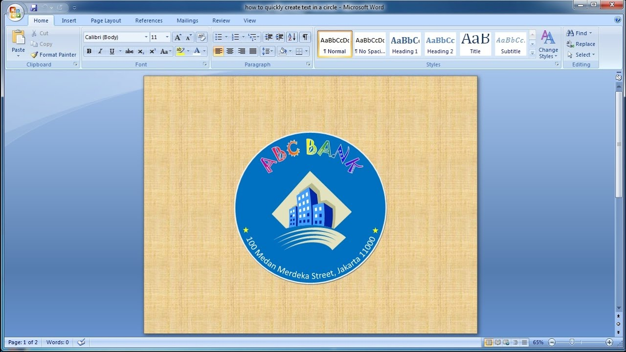 How to quickly create text in a circle microsoft word tutorial how to quickly create text in a circle microsoft word tutorial youtube biocorpaavc Images