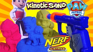 Paw Patrol Kinetic Sand VS Nerf N-strike Jolt - Kids' Toys