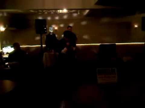 James Massone singing karaoke at the Lord Wakefield