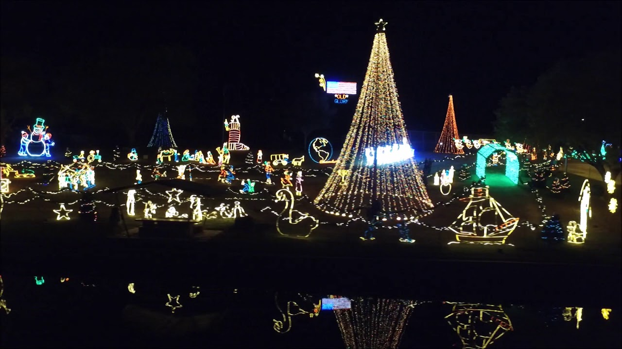 Marble Falls Christmas Lights 2020 Marble Falls Walkway of Lights 2017   YouTube