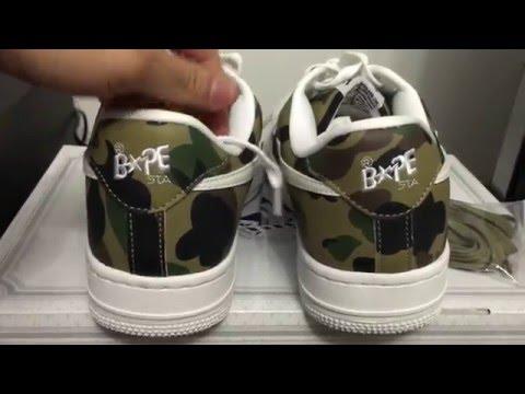 1b87f2e0fd1fe A Bathing Ape Bape Bapesta 1st Camo Sneaker Review - YouTube