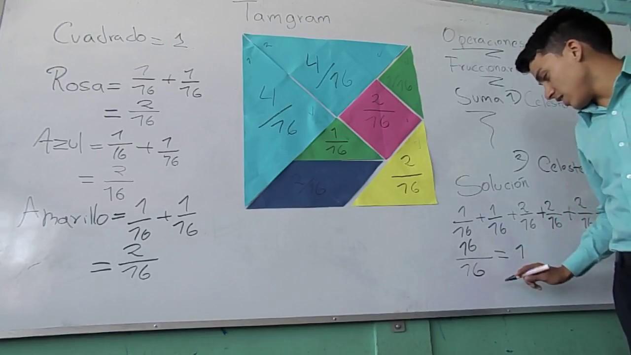 Uso del tangram con fracciones - YouTube