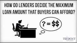 how do lenders determine maximum loan amounts