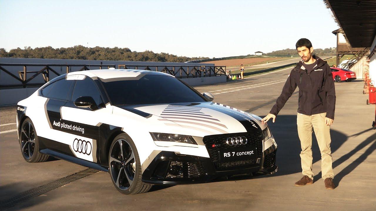 Audi A9 >> Audi RS 7 concept, l'auto che corre da sola (con noi dentro) - YouTube