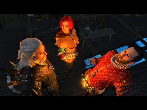 Triss Plays With Balls Of Witch Hunter Messenger (Witcher 3 | Geralt In Novigrad)