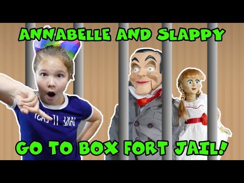 ANNABELLE And SLAPPY Go To Box Fort Jail For 24 Hours! Revenge Of The Villians!
