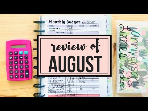 AUGUST Budget Review 2019 | DAVE RAMSEY INSPIRED BUDGET | Naturally Lizzie
