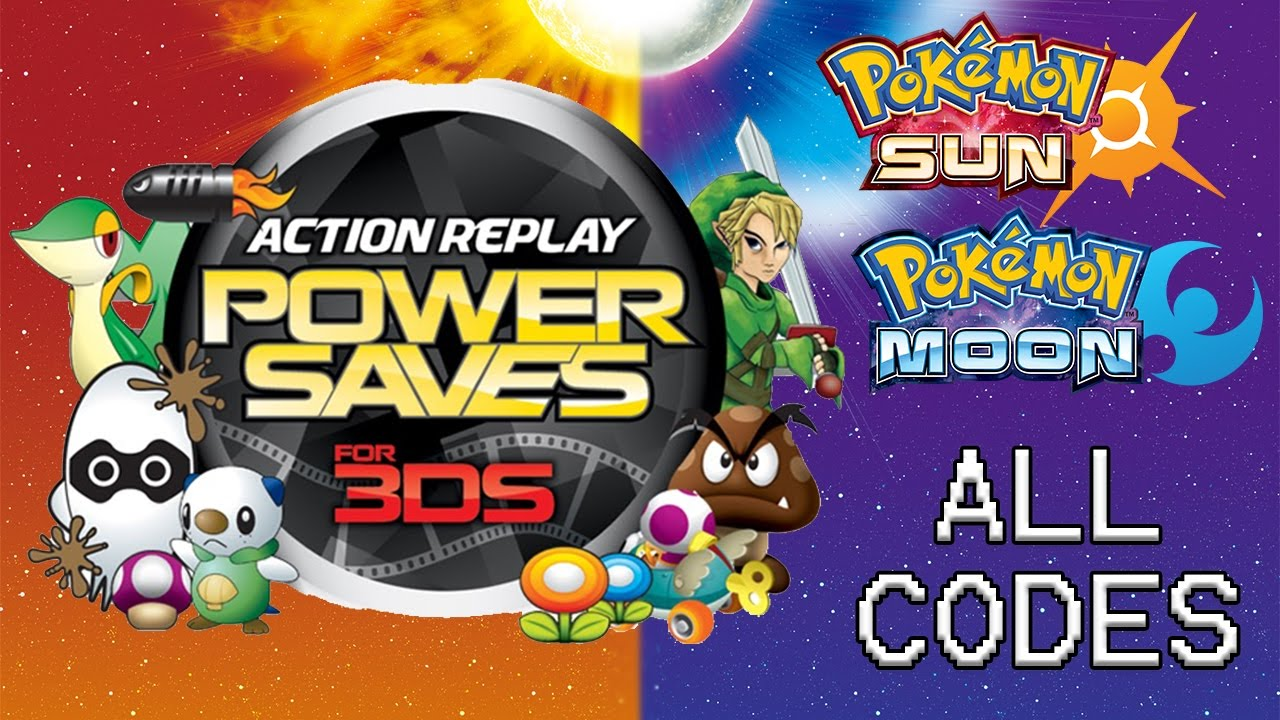 Powersaves 3DS: ALL Codes for Pokémon Sun and Moon as of 12