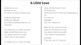 Hướng dẫn hát A little love