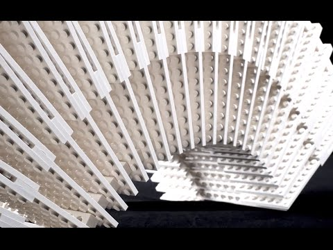 Press Play – architecture students` kinetic LEGO installation - Aalto University