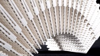 Press Play – architecture students` kinetic LEGO installation - Aalto University
