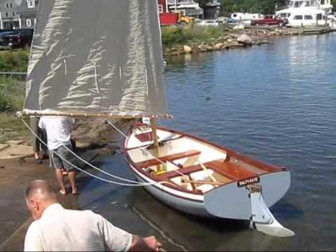 Launching sailboat