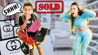 SELLING My Mom's GUCCI Items! *PRANK* | The Royalty Family