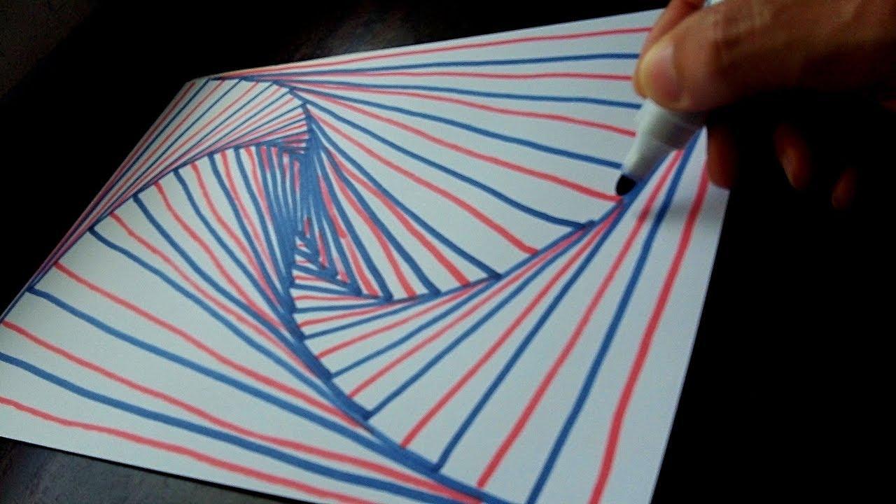 Como Fazer Desenho Abstrato Apenas Com Linhas Youtube