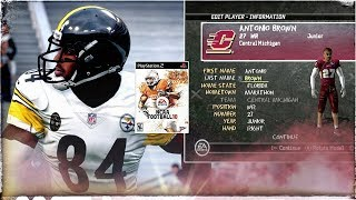 Antonio Brown is Back in NCAA Football 10 PS2 2018 4K!