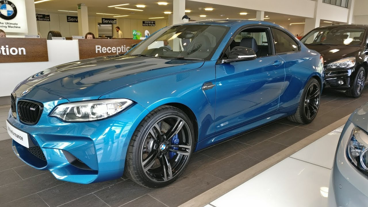 bmw m2 coupe in long beach blue at cooper bmw york. - youtube