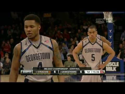 CBB 12/13 BET Semifinals #19 Syracuse Orange vs #5 Georgetown Hoyas 03/15/13 (Full Game)