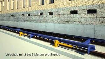 "Animation zum Verschub ""Gleis 9"" Gebäude in Oerlikon 2012"