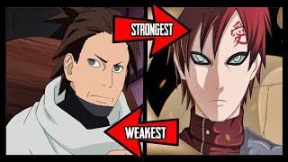 Ranking The Kazekage From Weakest To Strongest