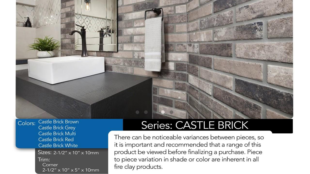 castle brick porcelain tile