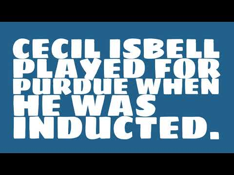 Who did Cecil Isbell play for?