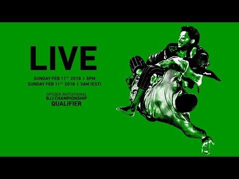 2018 SPYDER INVITATIONAL BJJ CHAMPIONSHIP QUALIFIER Live
