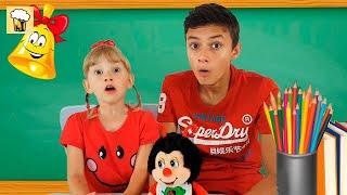 Alеna and Pasha in school show animals Kids pretend play by Chiko TV HD Vlad IRL