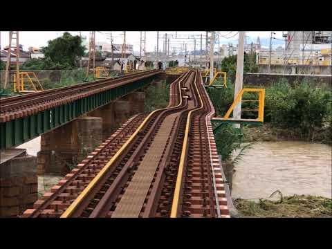 台風21号、南海電車橋脚沈む