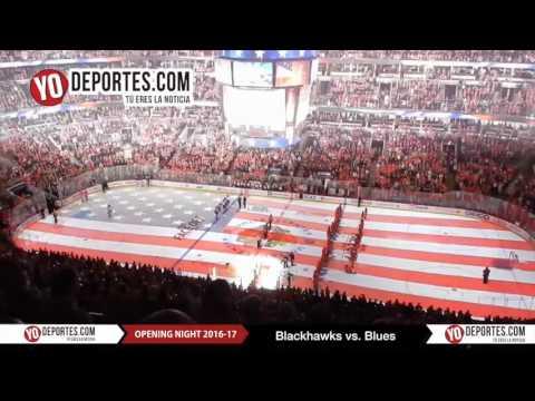 Chicago Blackhawks vs  St. Louis Blues United Center National Anthem